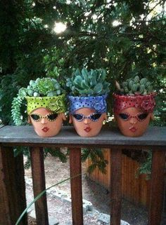 Just plain cute -   21 funky garden pots ideas