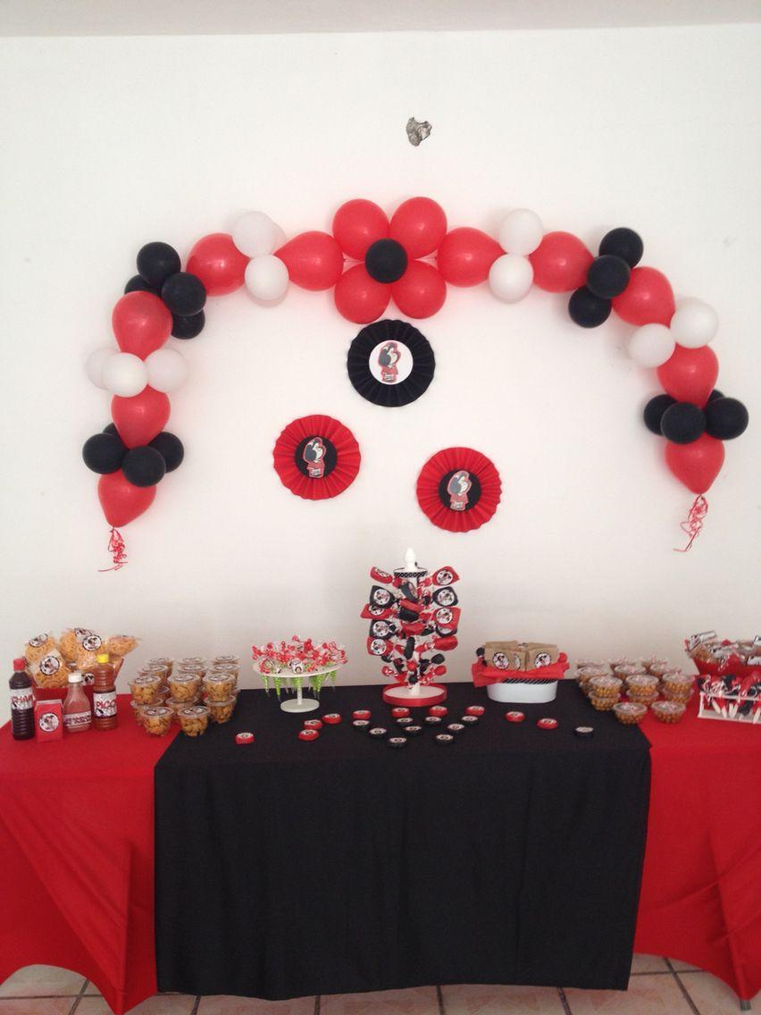 Mesa de dulces de mafalda festa mafalda pinterest - Decoracion fiestas de cumpleanos ...