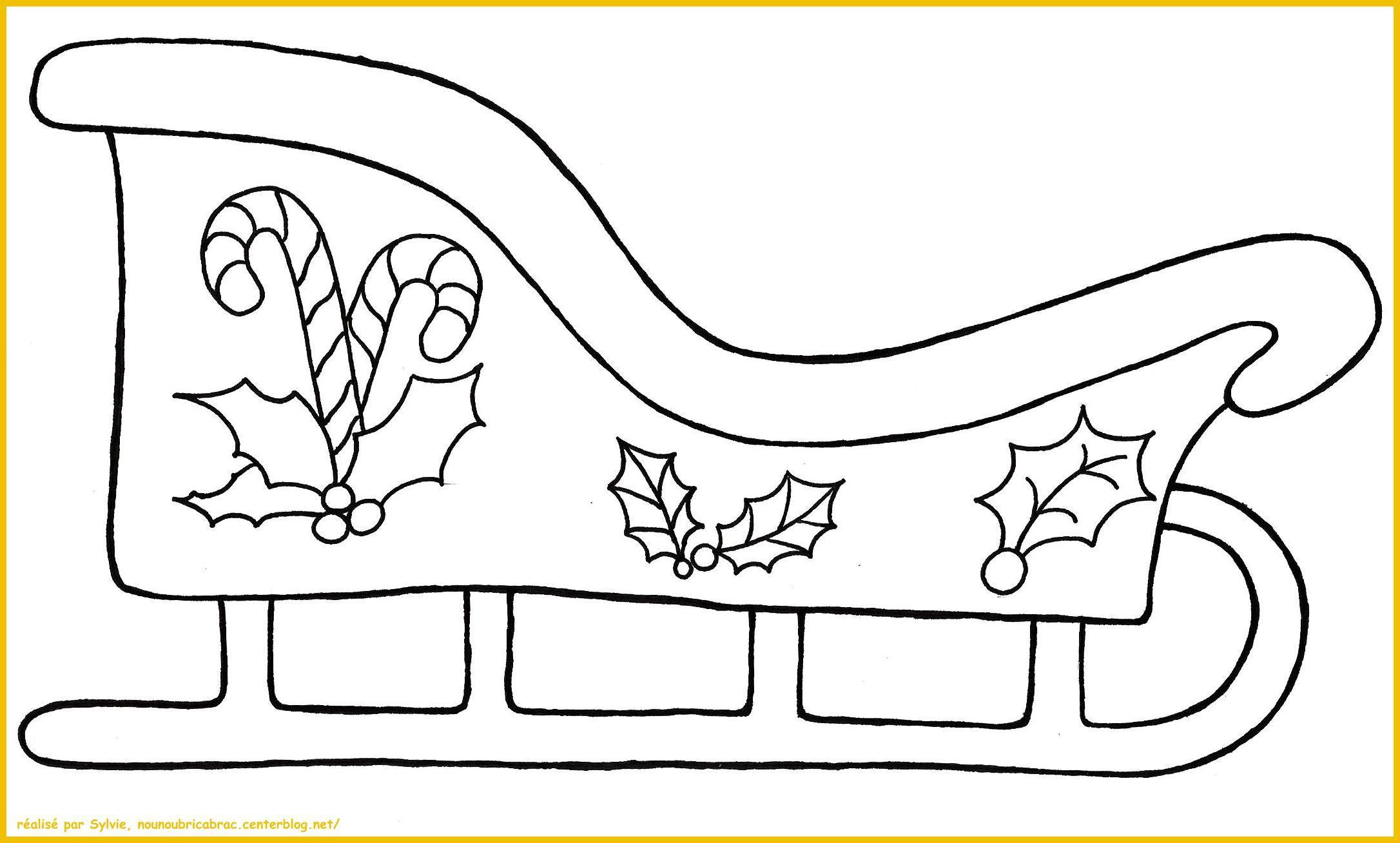 Traineau du Père Noël à colorier | Traineau pere noel, Pere