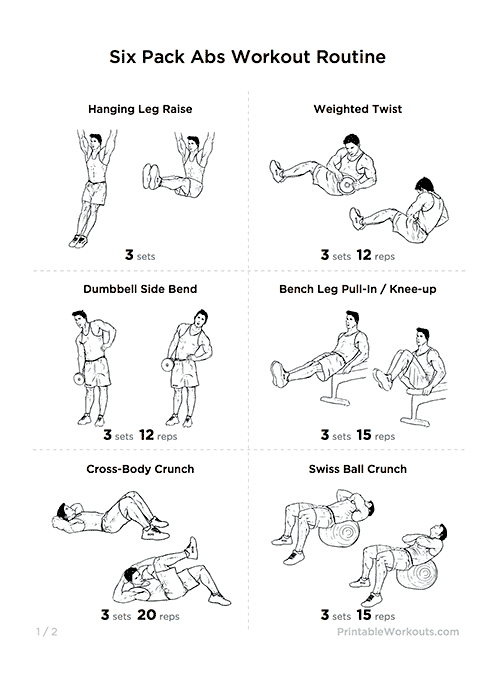 great  u0026quot six pack abs u0026quot  core strength workout routine