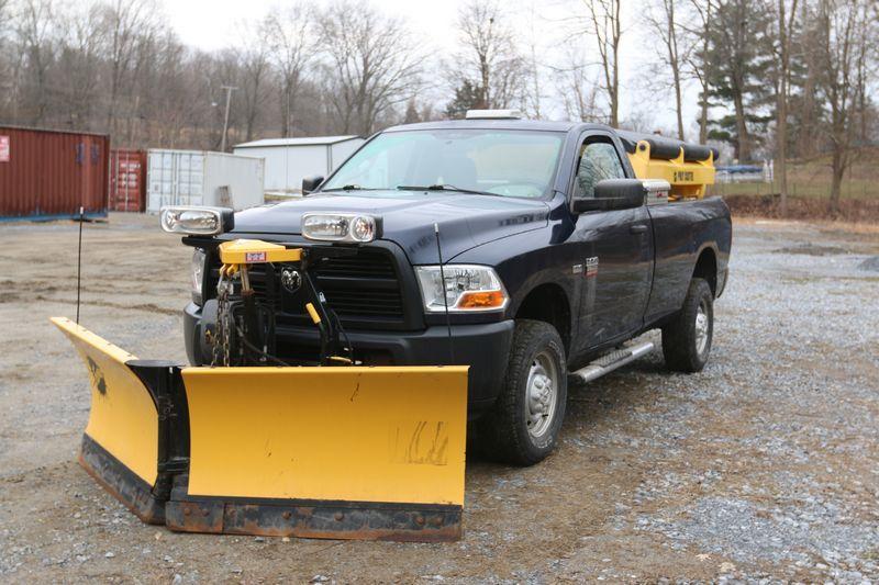 2012 Dodge Ram 4x4 Pickup Truck Vin 3c6ldat9cg158223 5 7l V 8 Automatic Transmission Fisher 8 6 Xtremev Plow Leather Bench Leather Bench Seat Bench Seat