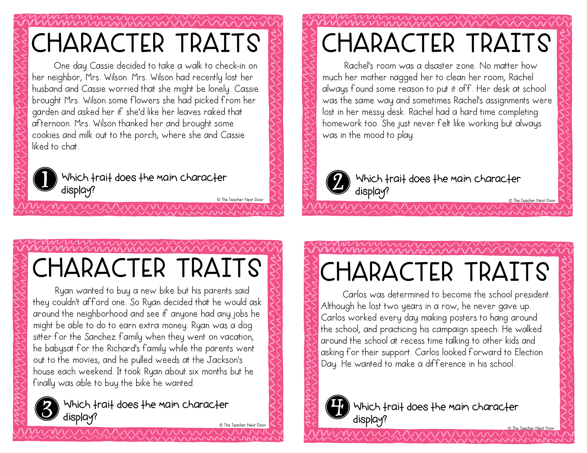 Teaching Character Traits In Reading With Images