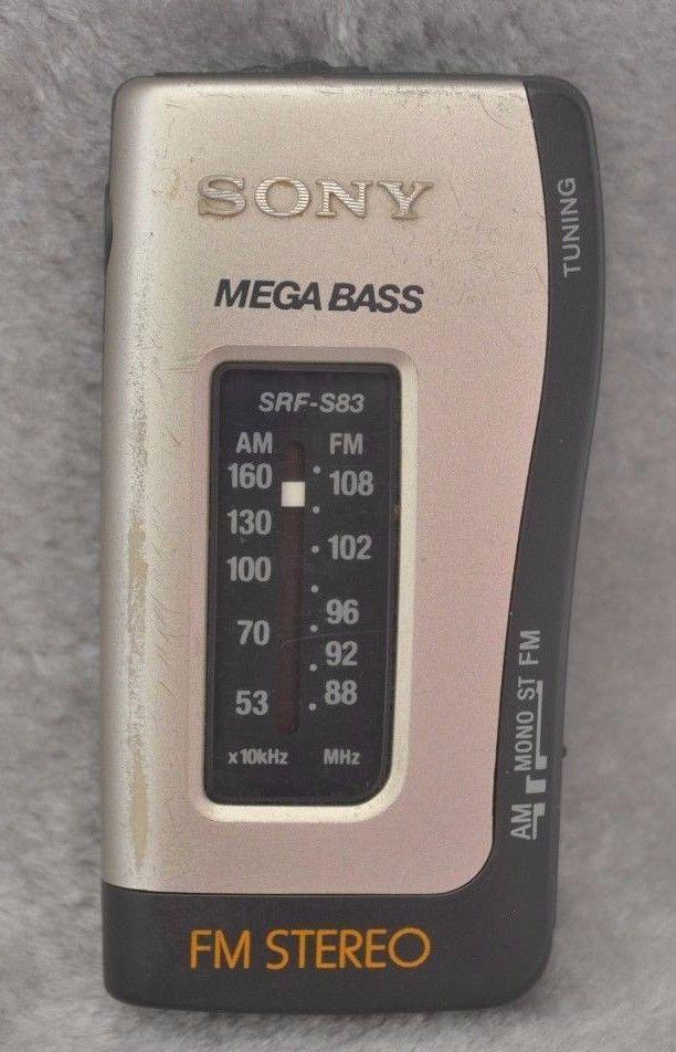 e0e16c961ef5 Sony Pocket Personal Radio SRF-S83 FM/AM Megabass Portable Analogue FM  Stereo #
