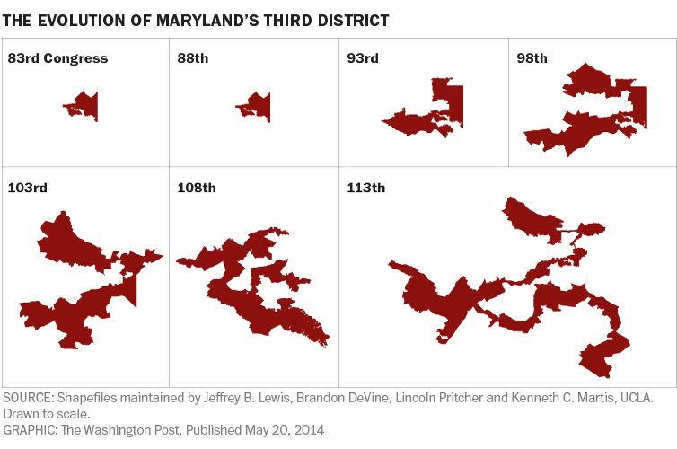 Marylands 3rd Congressional District What 60 years of political