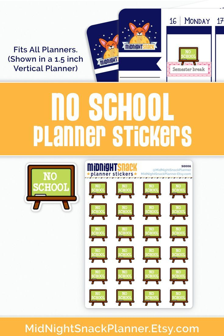 These no school planner stickers are perfect for days where school is cancelled in your planner