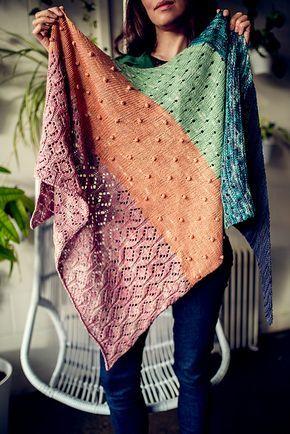 Pastel Gemstones Shawl pattern by AbbyeKnits #pastelpattern