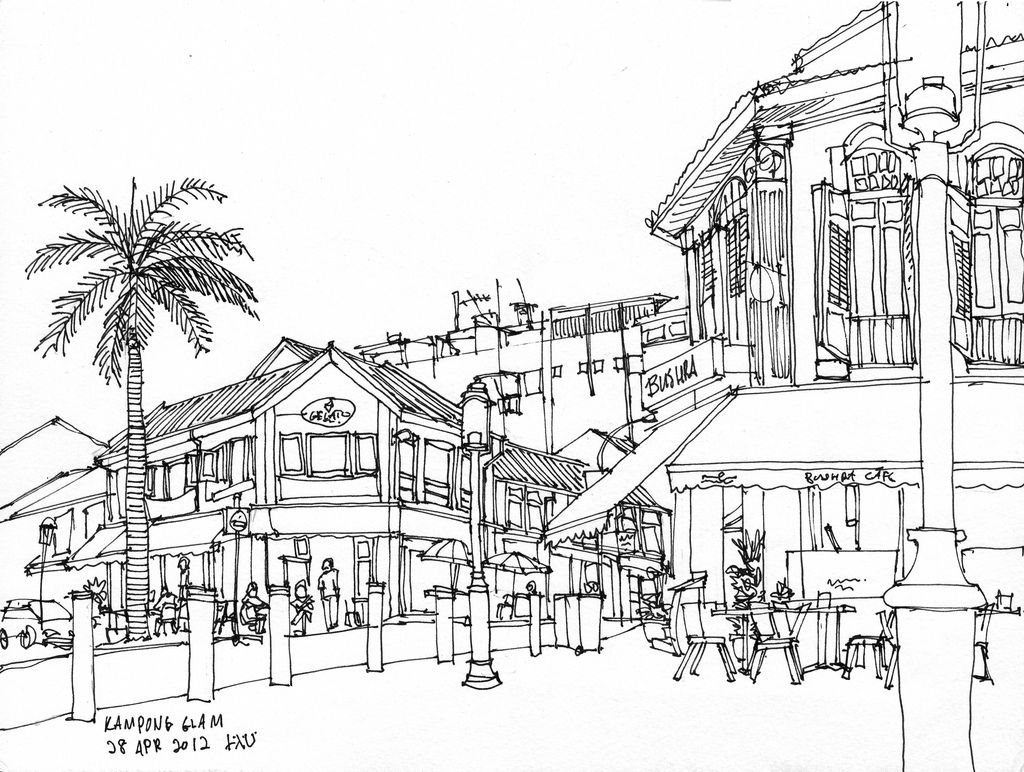 shophouse drawing - Google Search | Drawings/designs | Pinterest ...