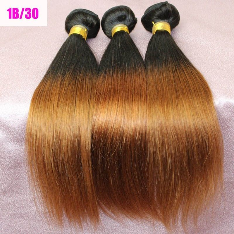 Ombre Silky Straight 1b30 Wholesale Peruvian Virgin Remy Hair