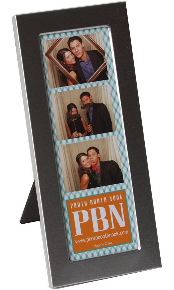 Brushed Silver Designer Metal Photo Booth Frame Single Frame Best