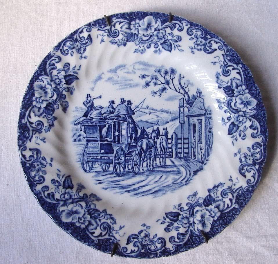 Antiguo plato porcelana inglesa johnson bros coaching scenes vajillas porcelana porcelana - Johnson brothers vajilla ...