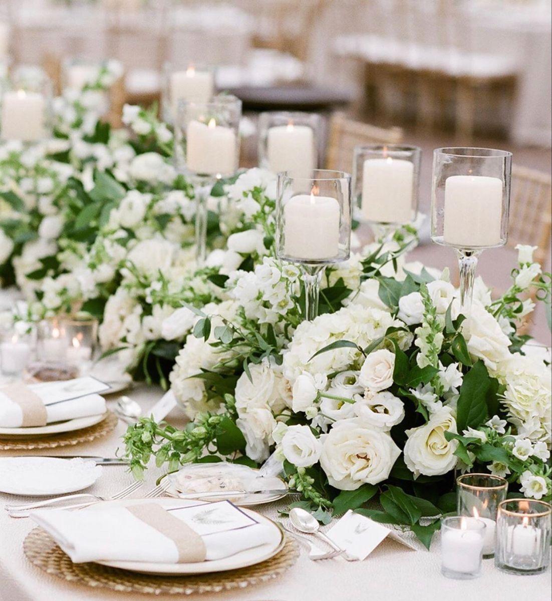Wedding Centerpieces In 2020 White Flower Arrangements Wedding Flower Arrangements Fall White Wedding Flowers