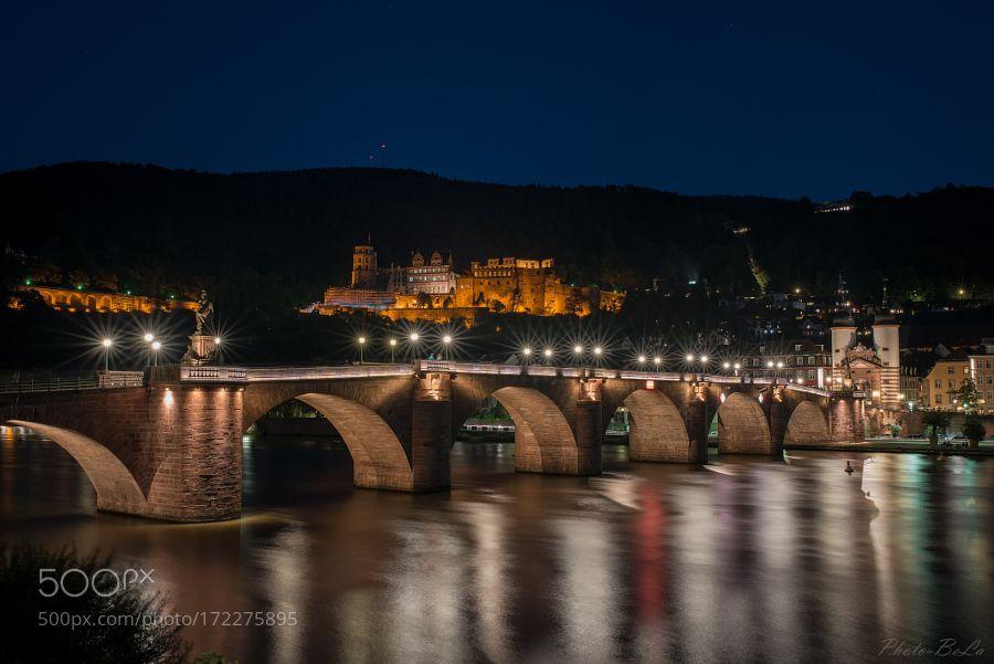 Heidelberg at night by BernieLamberz. @go4fotos