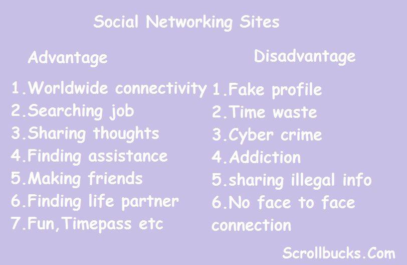 advantages and disadvantages to social media