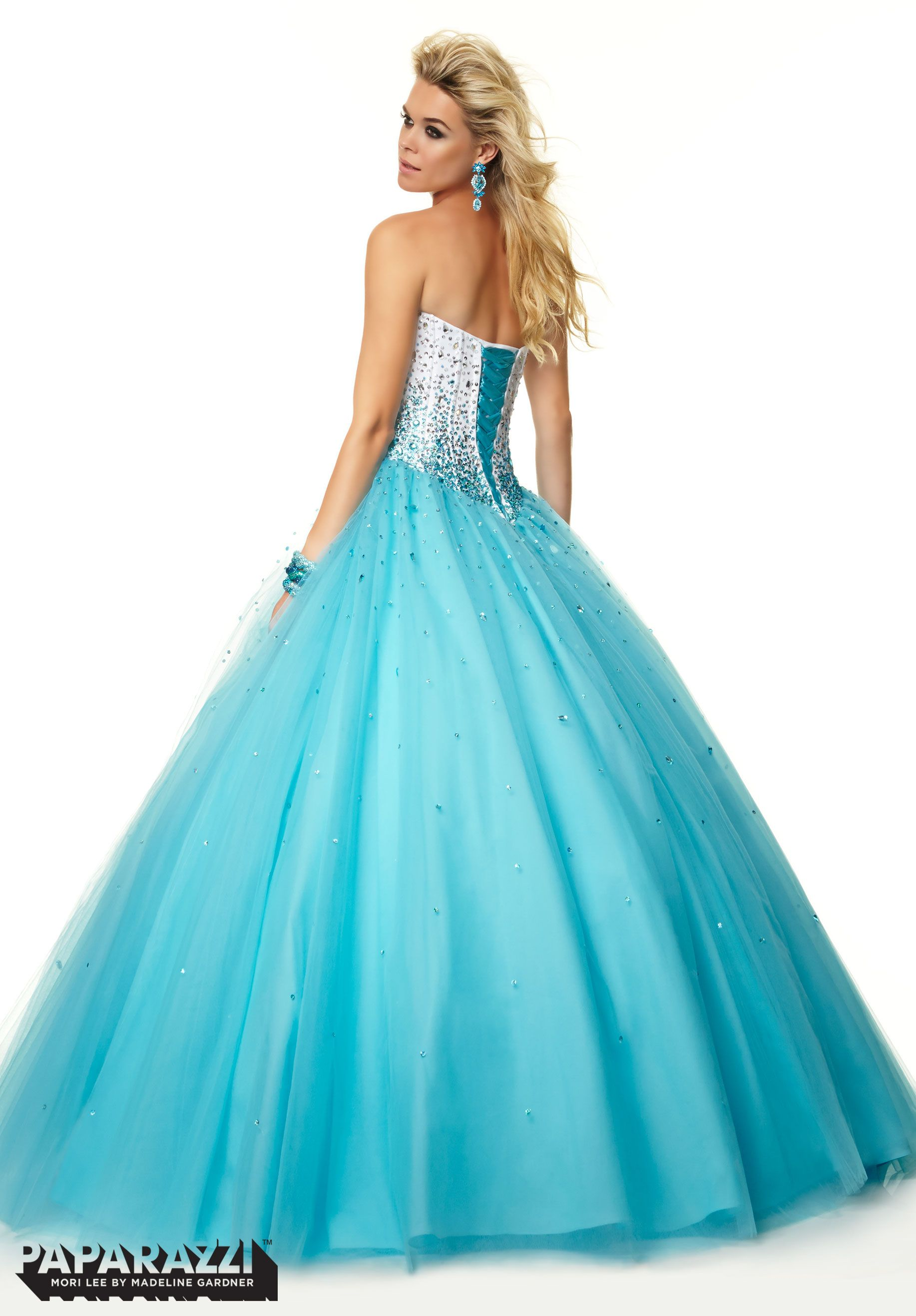 97051 Prom Dresses / Gowns Beading on Satin and Tulle Ballgown ...