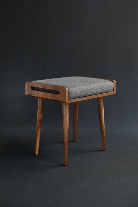 stool seat ottoman bench in solid walnut board home pinterest hocker st hle und. Black Bedroom Furniture Sets. Home Design Ideas