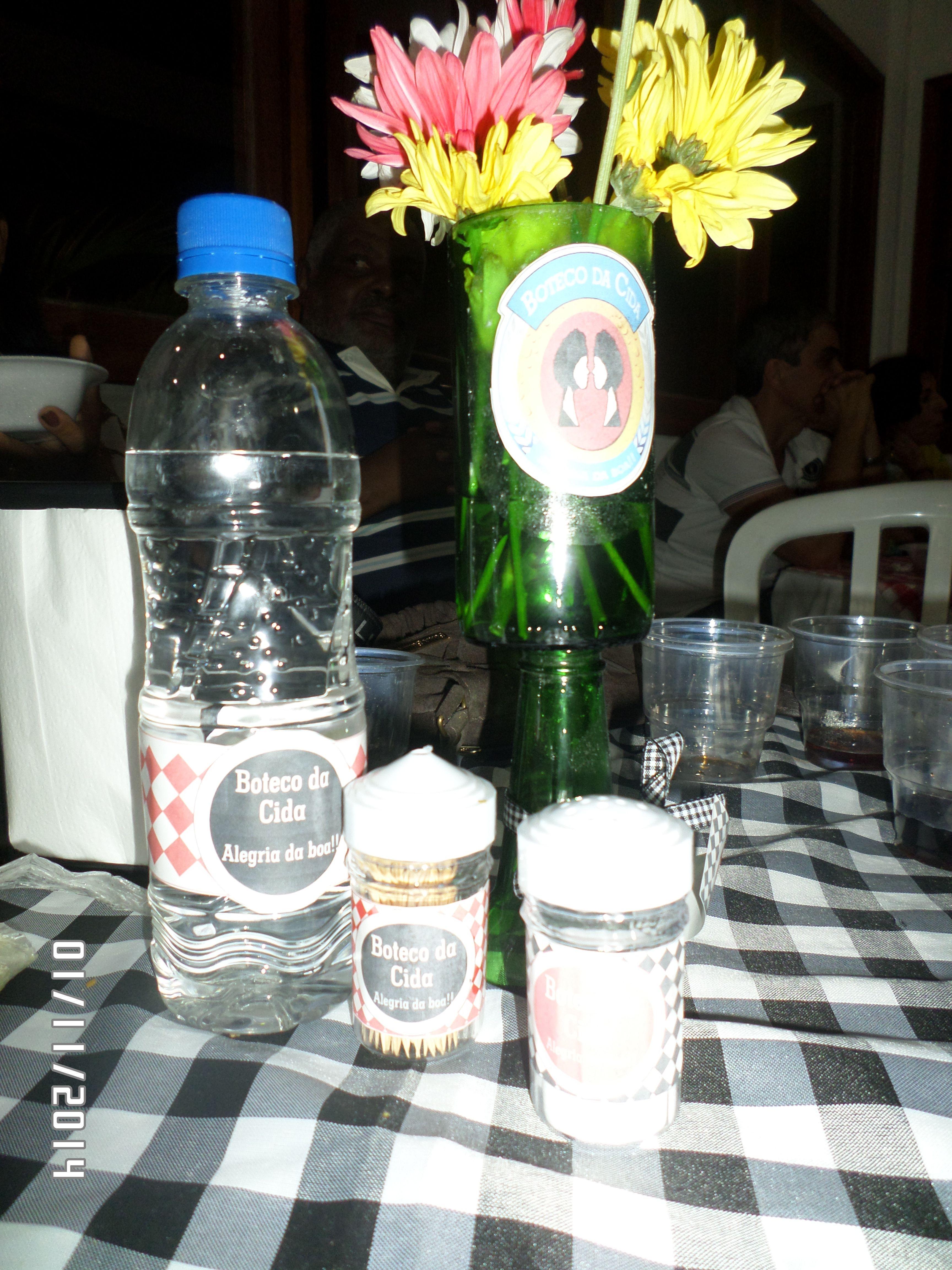 kit de lembrança das mesas
