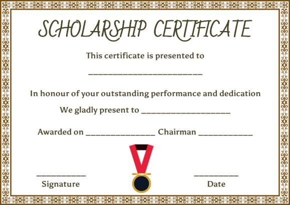Performance Certificate Template Academic Certificate Archives Free