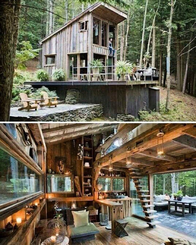 A Tiny House Situated In A Forest No Drama No Problem