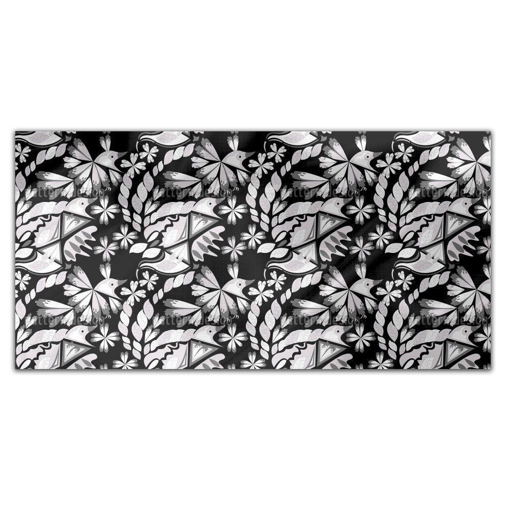 Uneekee Artful Bird Rectangle Tablecloth (Small), Multi (Polyester, Print)