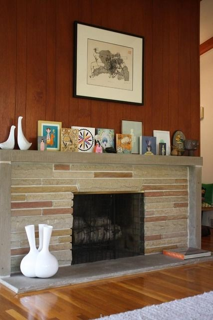 Apartment Therapy Mid Century Modern Decor Mid Century Modern House Brick Fireplace Makeover