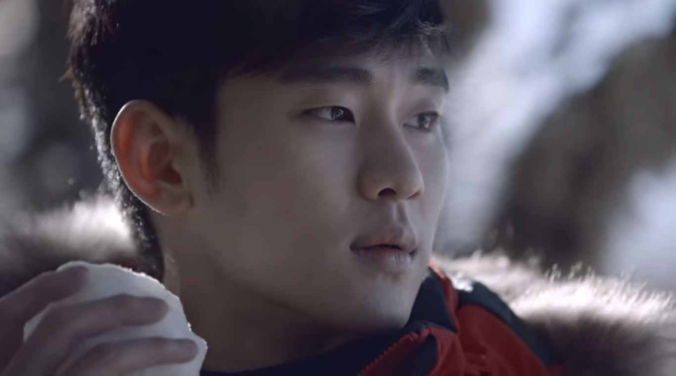 Kim Soo Hyun Looks Pretty and Lonely in an Icy Winterland