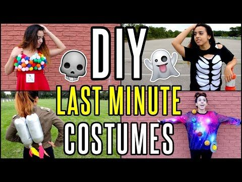 Super Fast  Affordable DIY Halloween Costumes! - YouTube - super easy halloween costume ideas