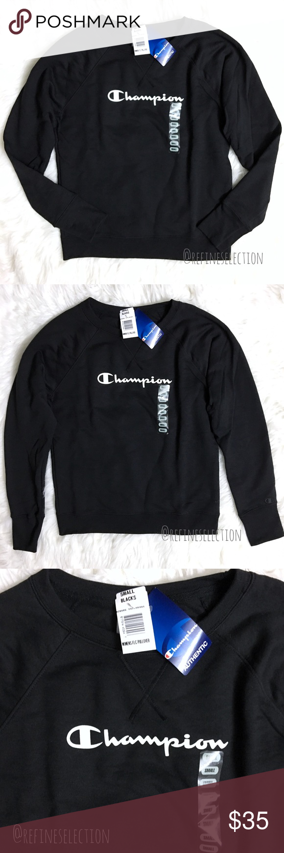 Champion Black Fleece Crewneck Sweatshirt Sweatshirts Black Fleece Crew Neck Sweatshirt [ 1740 x 580 Pixel ]