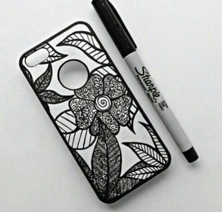 Sharpie drawn phone case phone diy pinterest sharpie for Cell phone cover design ideas