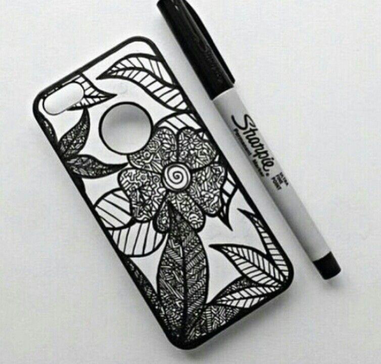 Sharpie Drawn Phone Case Sharpie Phone Cases Diy Phone Case