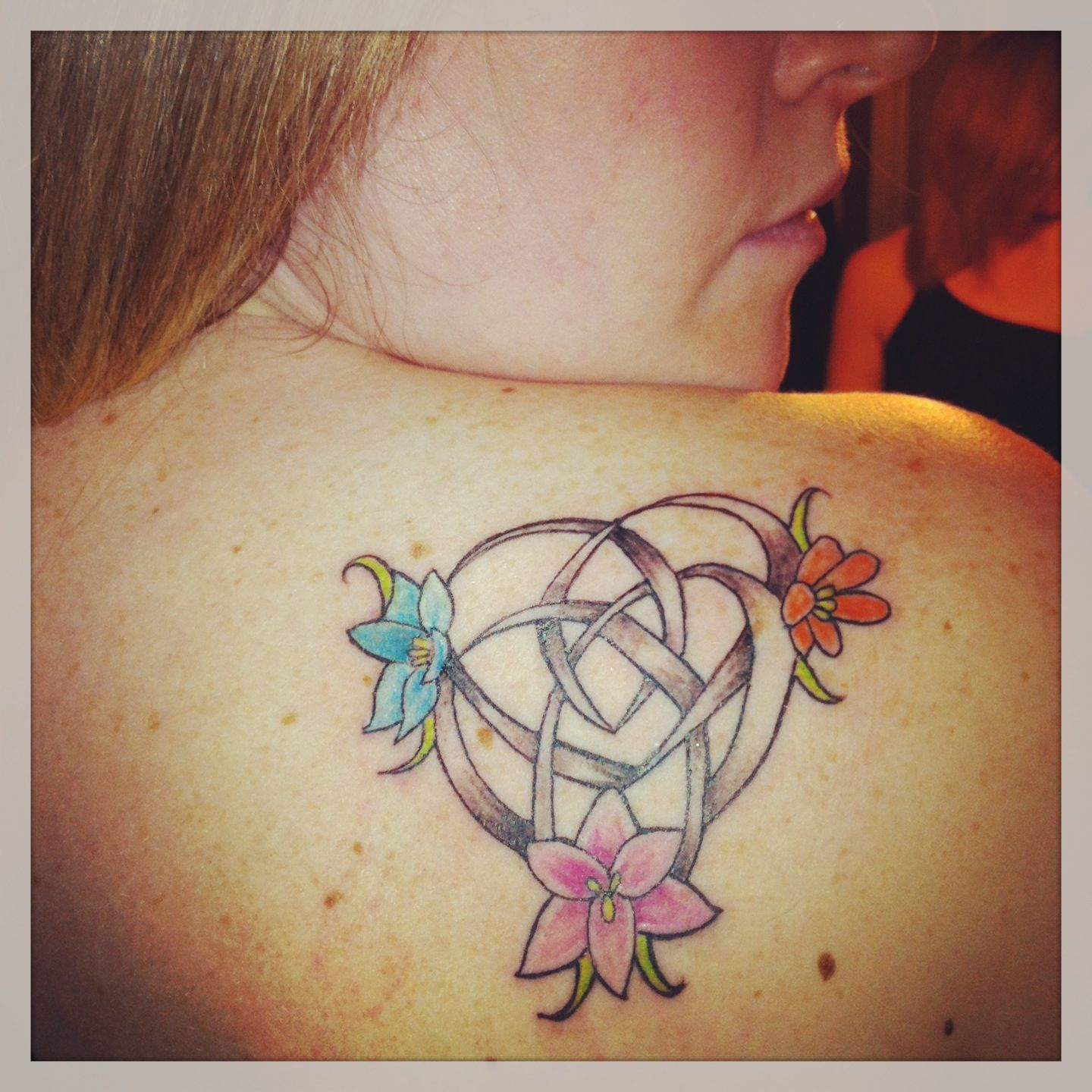 Celtic motherhood knot with my babies as flowers i would use
