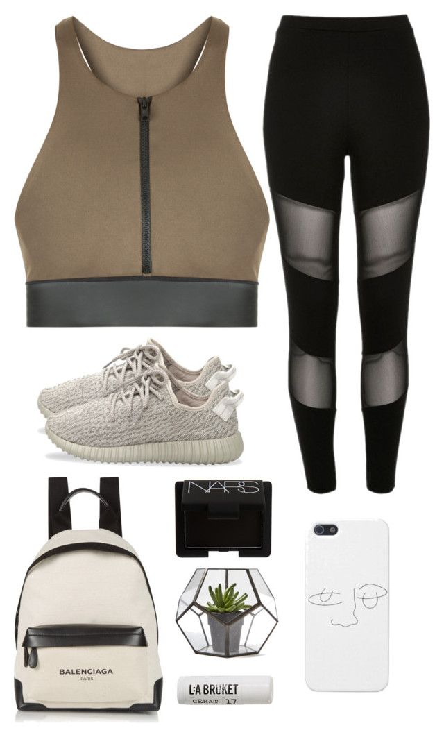 """""""Untitled #8"""" by megan-corio ❤ liked on Polyvore featuring Olympia, River Island, adidas Originals, Balenciaga, NARS Cosmetics and L:A Bruket"""