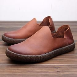 82991bac2176 Men Scrub Genuine Leather Soft Casual Shoes