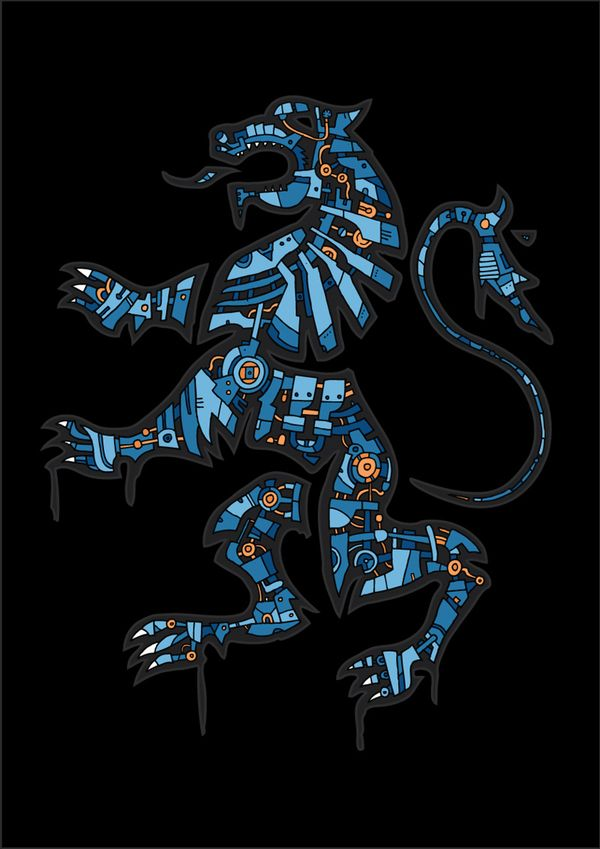 Black Lion by Barney Ibbotson, via Behance