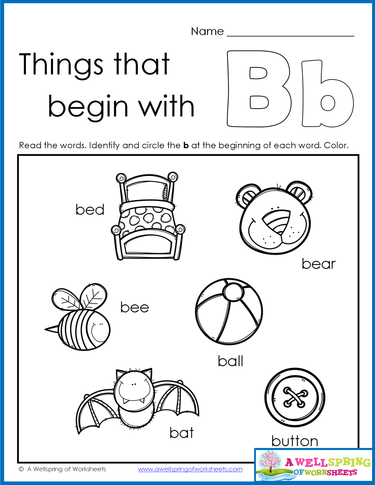 Things That Begin With A Z Worksheets