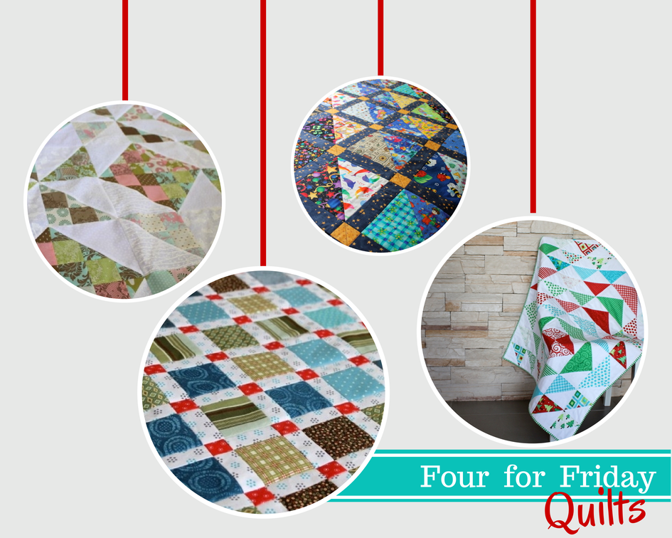 Four for Friday: Quilts - four of my favourite quilt projects from the Crafty Mummy archives #quilting #patchwork #quilts