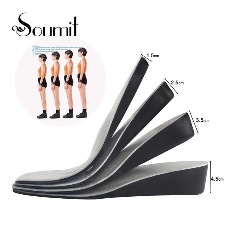 7f1779b24aab Soumit Invisible Height Increase Insert Sports Shoes Insoles For Men Women  Arch Support Lift Taller Pads Soles For Shoe Elevator