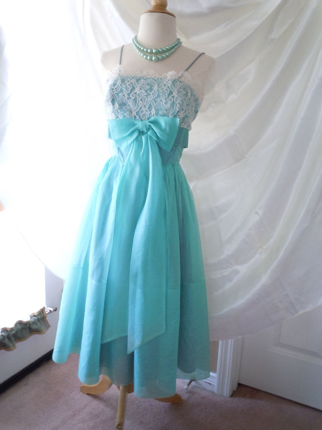 Tiffany blue vintage gown s vintage gowns tiffany blue and s