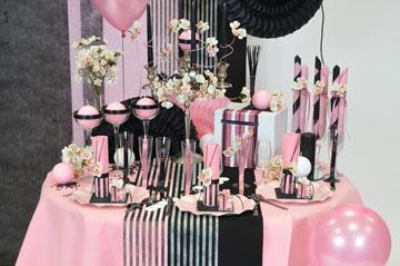 Noire et rose couture robe enceinte pinterest ambiance deco deco de fete et ambiance - Decoration anniversaire 30 ans femme ...