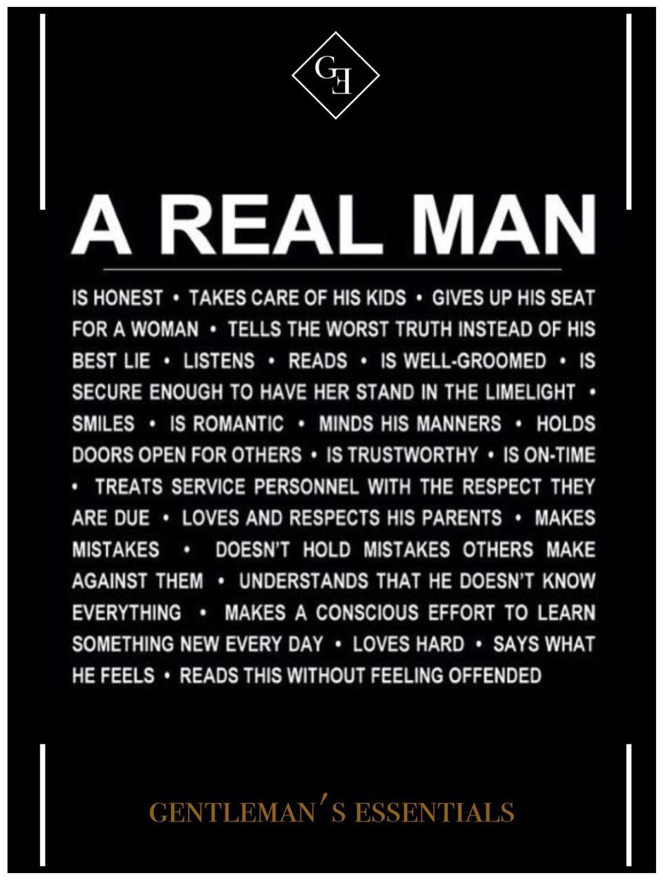 Daily Quote Gentlemans Essentials Men Pinterest Real Man