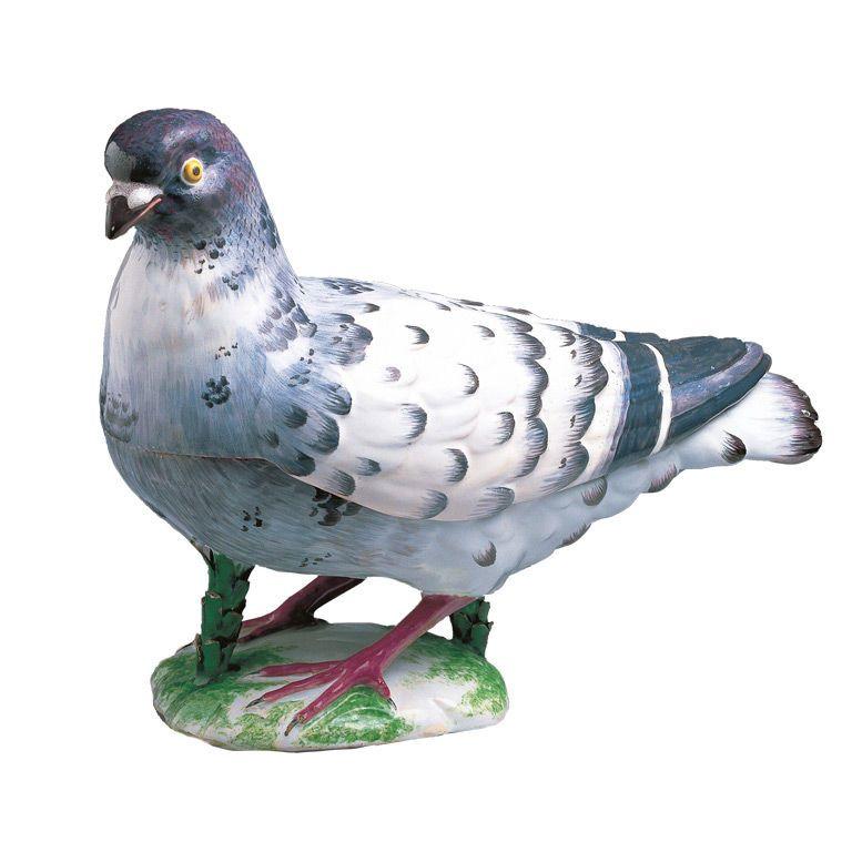A Strasbourg rare Pigeon Tureen and Cover circa 1748