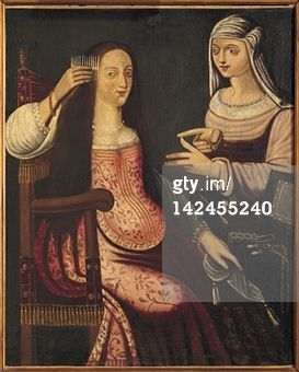 Two Ladies, 16th century, painting from the German School. France, Loire Valley, Gue Pean Castle