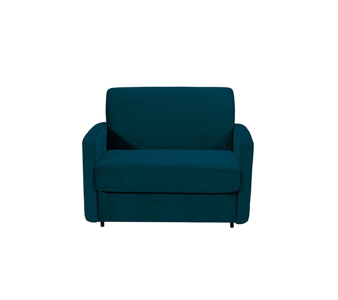 Canape Convertible 1 Place 73 Move S Tissu Lovely Bleu Petrole