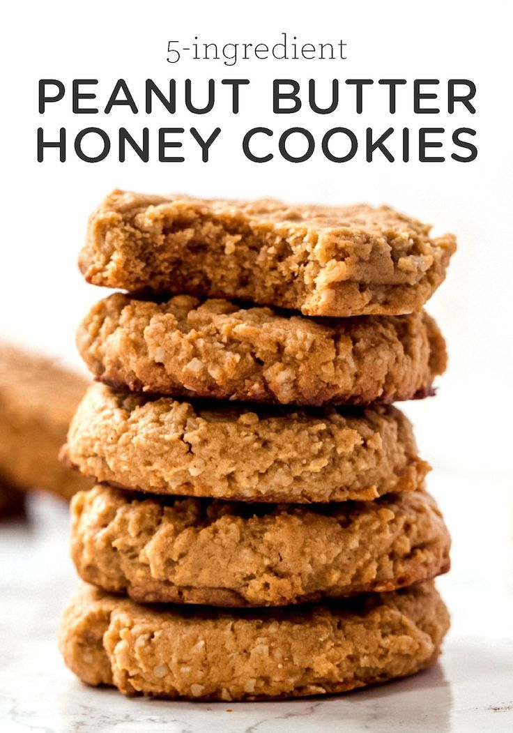 5-Ingredient Peanut Butter Honey Cookies - Simply Quinoa