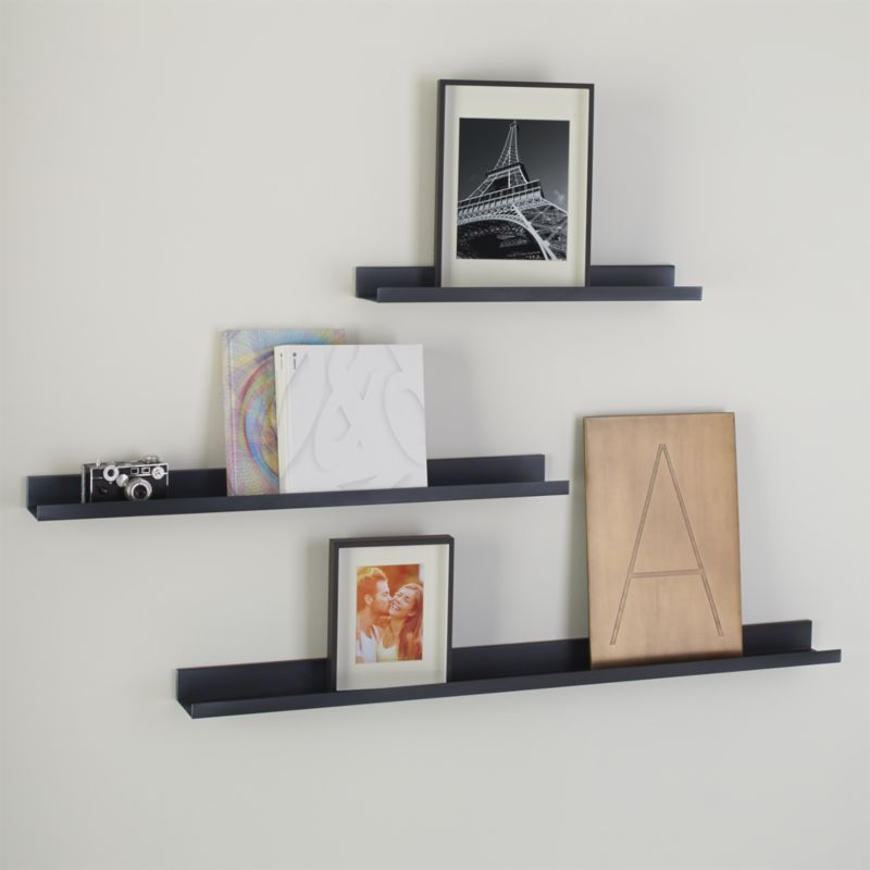 Davis 48 Zinc Wall Shelf Crate And Barrel Wall Shelves Display Shelf Design Decorating Shelves