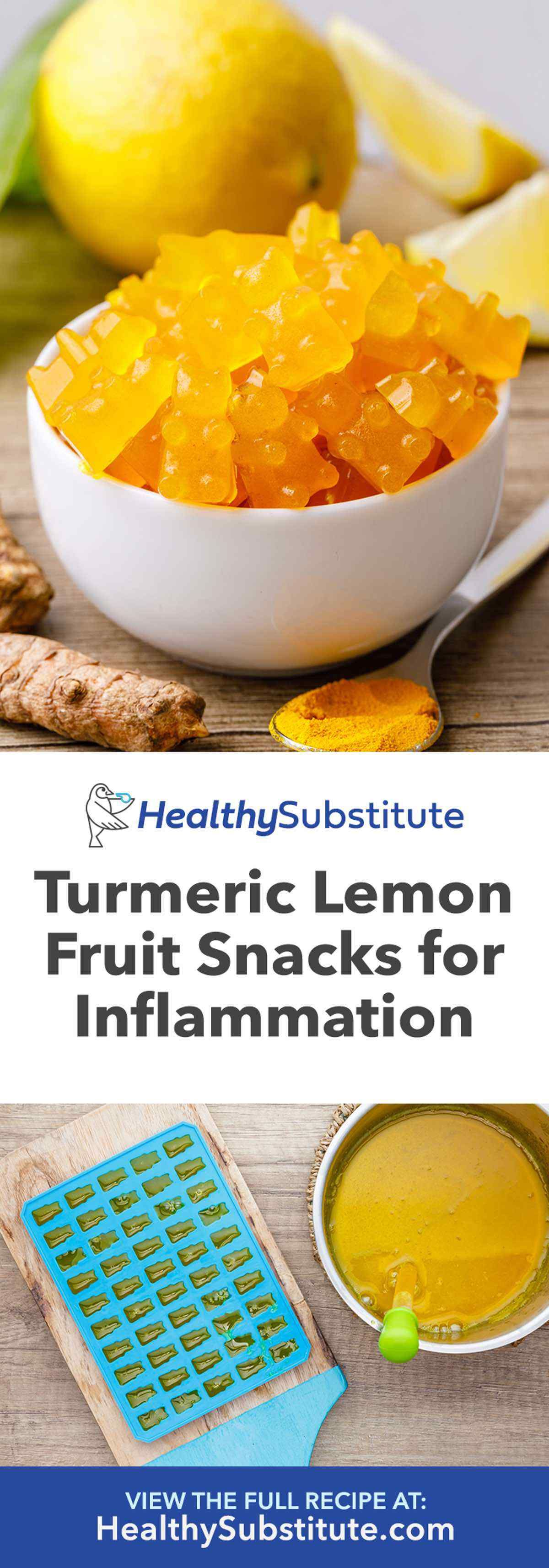 Anti-Inflammatory Turmeric Lemon Fruit Snacks - Healthy Substitute #antiinflamatoryrecipes