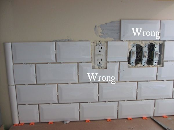 Diy Beveled Subway Backslash Beveled Subway Tilesubway Tile Backsplashbacksplash