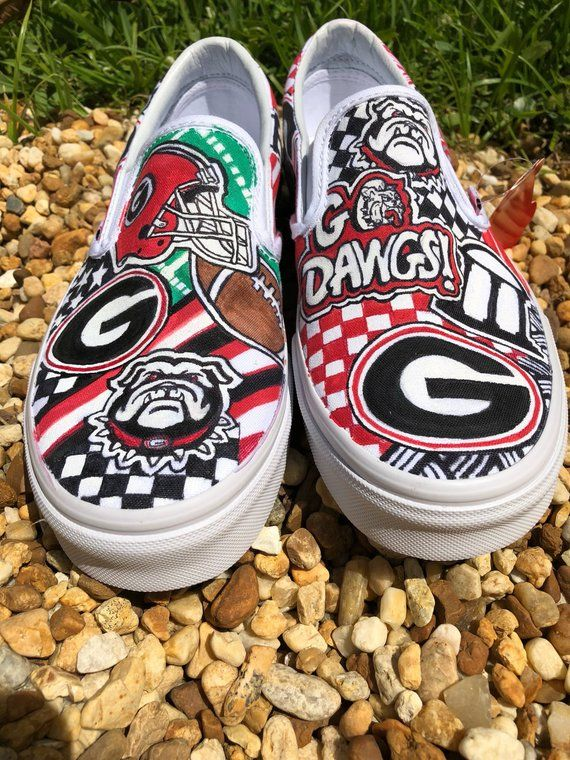 a9bf9bb5ab09 University of Georgia Bulldogs custom sneakers in 2019