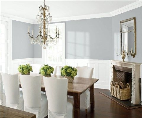 Saved Color Selections  Wainscoting Benjamin Moore And Ceilings Simple Color Dining Room Inspiration Design