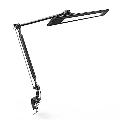 Anker lumos e2 dimmable led desk lamp with portable clamp design eye care tech aluminum alloy material touch sensitive control panel 4 lighting color