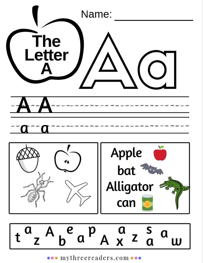 Letter A Printables Free Preschool Letters Printables, Teaching Letters, Alphabet  Worksheets Preschool